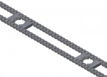 Oversize Drive Chain with Inside Lugs for Cam Followers, Close-Up