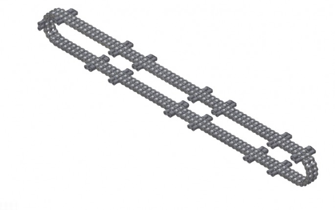 Drive Chain with Outside Lugs