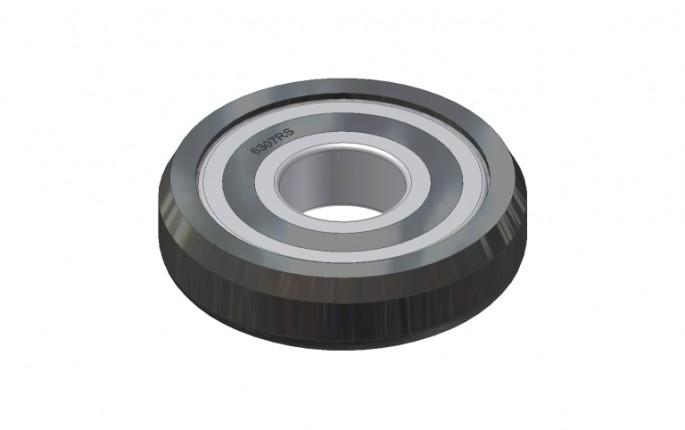 Flat Plate Guide Wheel with Large Bearing