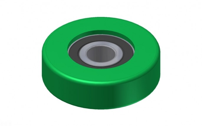 Guide and Support Wheel - Ø50mm, Green