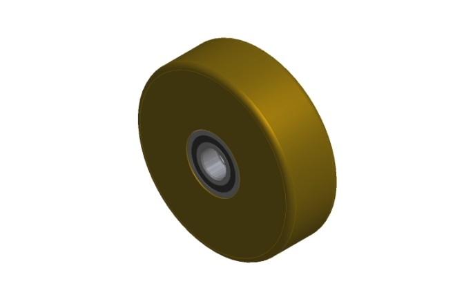 Brown Polyurethane Wheel