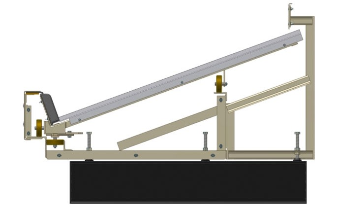 Carousel Frame Section with HRS Trim, Inside Perimeter Back Guard with Support Frame, and Optional I-Beam Supports