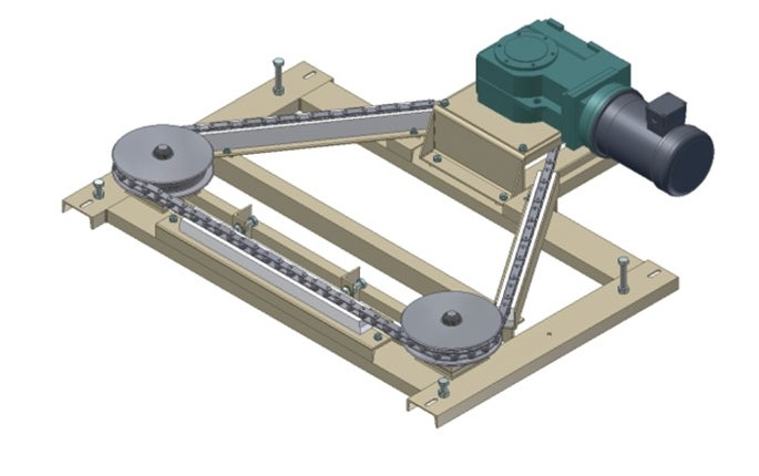Drive Assembly and Frame with Available Dodge Quantis Reducer