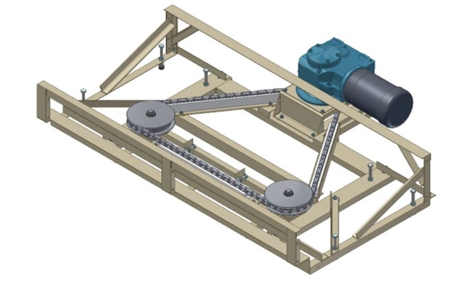 Drive Assembly and Frame with Available SEW KF Series Reducer