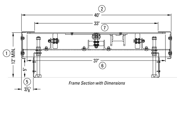 Frame Section with Dimensions