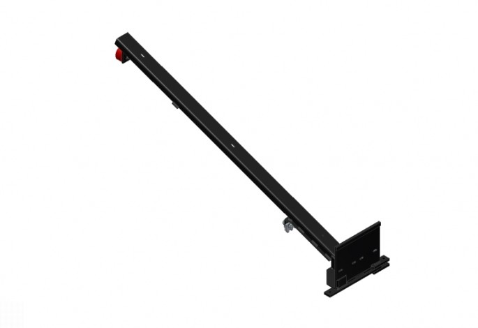 Pallet Support Assembly - Black with Red Wheels - Left Side