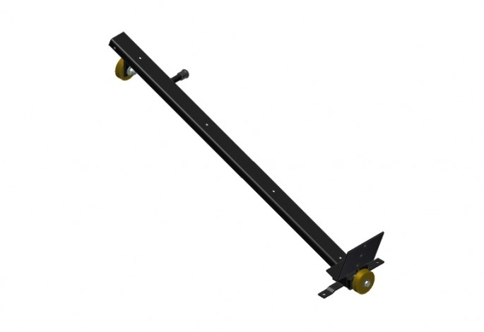 Pallet Support Assembly - Black with Brown Wheels - Left Side