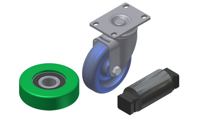 Wheels, Casters and Support Rollers